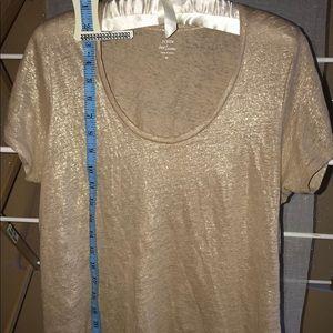J. Crew gold sparkle linen shirt
